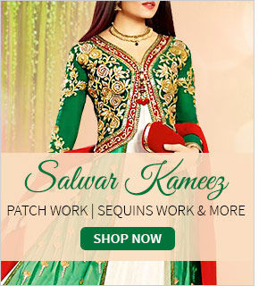 Wide array of Salwar Kameez with opulent embroidery & work. Buy!