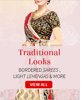 Grab eyeballs with Traditional ensembles in myriad fabrics and intricate work. Shop!