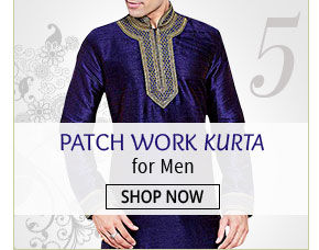 Look dapper in Patch Work Kurtas for Men. Bag now!