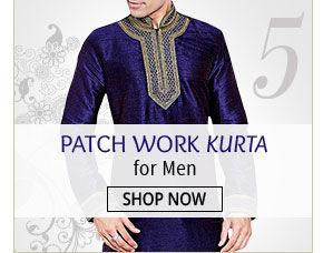 Look dapper in Patch Work Kurtas for Men. Bag now!