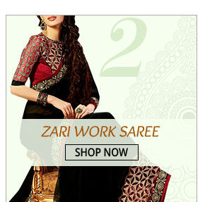 Look graceful in this gorgeous Zari Work Saree. Get yours!