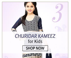 This beautiful Churidar Kameez is the best bet for your angel. Shop!