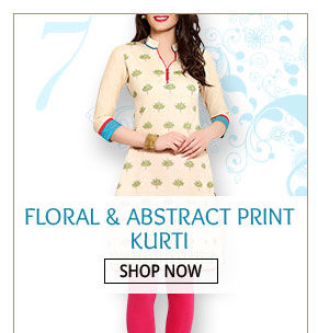 Floral and Abstract Printed Kurti for those casual times. Shop!