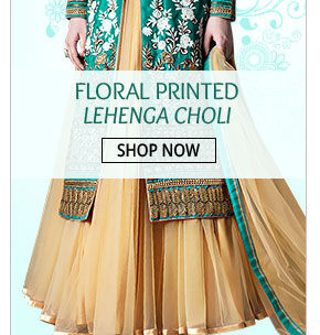 Don this Floral Printed Lehenga Choli on special occasions. Buy now!