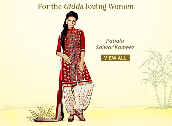Exuberant Patiala Style Salwar Kameez for your closet. Shop!