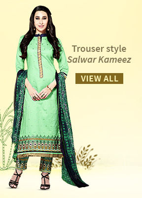 Sophisticated Trouser style Salwar Kameez. Buy!