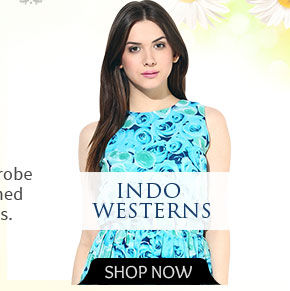 Floral printed Indo Westerns. Shop!