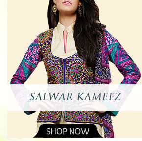 Salwar Kameez with Floral print. Shop!