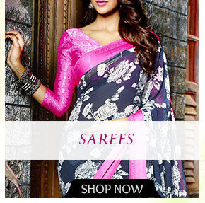 Sarees with Floral Print. Shop!