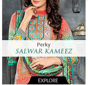 Salwar Kameez with modern Prints. Shop!
