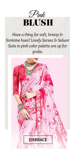 A myriad of beautiful Sarees in Pink hue. Buy Now!