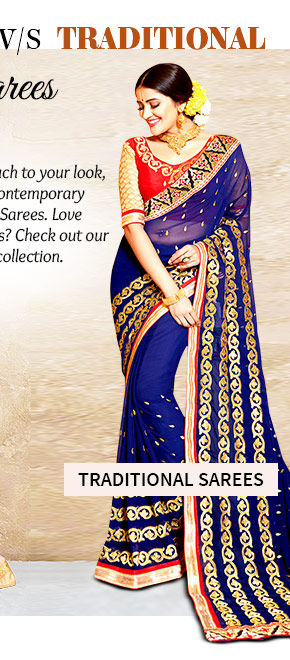 Select from our wide array of Traditional Embroidered Sarees. Buy Now!