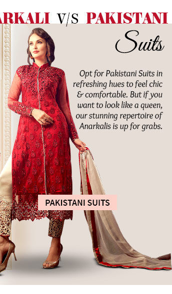 Choose from our inspiring range of Pakistani Suits. Buy Now!