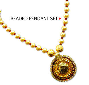 Beaded Pendant Set