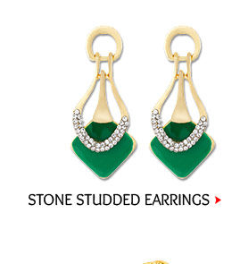 Stone Studded Earring in Multicolor