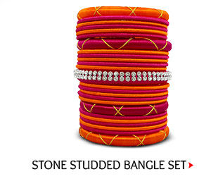 Stone Studded Bangle Set
