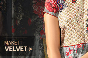 The season's trending Velvet Ensembles for the fashionista. Shop Now!