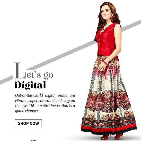 Range of ensembles with vibrant Digital Prints. Shop Now!