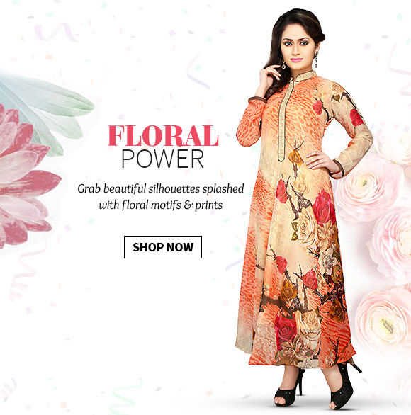 Ethnic ensembles in Floral Prints & Motifs. Shop!