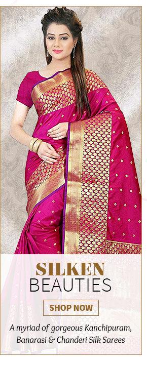 Heritage Silks: Banarasi, Kanchipuram, Tussar, Jamdani & more. Shop!