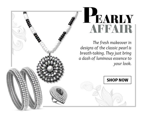 Stunning Pearl Maang Tikkas, Earrings, Haath Phools & more. Shop Now!