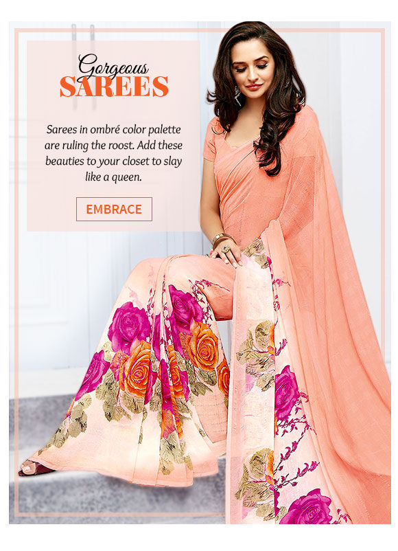 Latest range of Sarees in ombré. Buy Now!