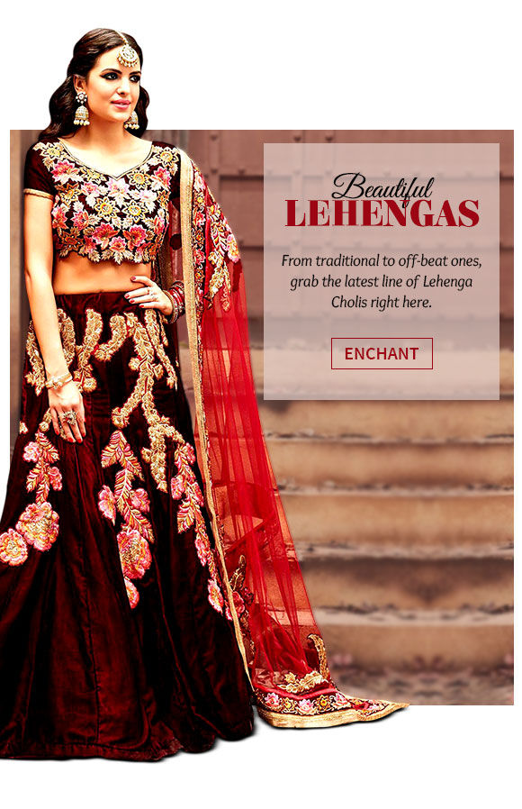 Latest range of Lehenga Cholis. Buy Now!