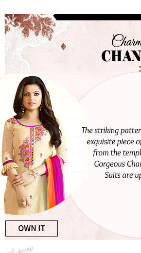 An elegant Collection of Chanderi Suits. Buy Now!