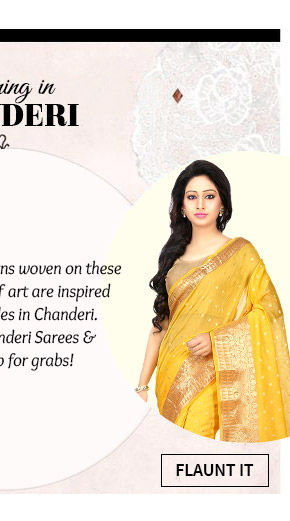 An elegant Collection of Chanderi Sarees. Buy Now!