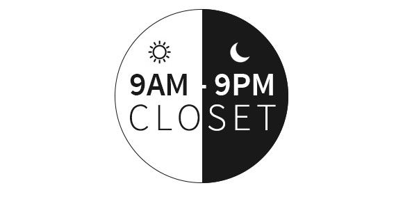 The 9AM to 9PM Closet