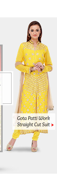 Choose from our inspiring range of Salwar Kameez with Gota Patti work. Buy Now!