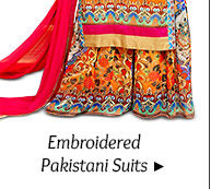 A gorgeous repertoire of Pakistani Suits. Buy Now!