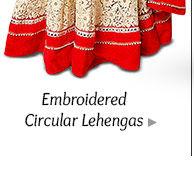 A myriad of stunning Circular Lehenga Cholis. Buy Now!