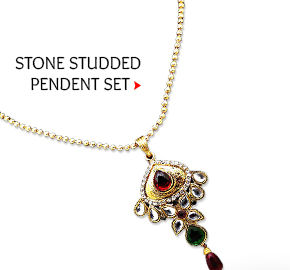 Stone Studded Pendent Set. Buy Now!