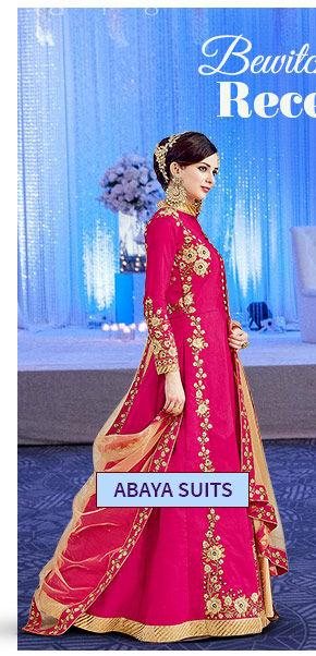Abaya style Suits in myriad fabrics. Shop!