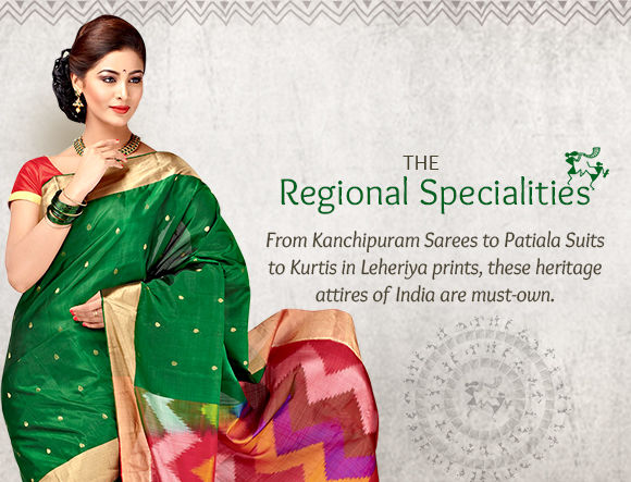 Kanchipuram, Bangalore Silks, Bandhani, Leheriya Prints, Punjabi Suits & more. Shop!