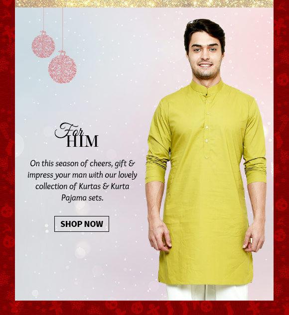 Versatile range of Kurtas & Kurta Pajamas. Buy Now!