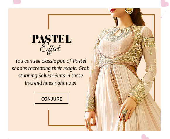 A wide range of beautiful Salwar Suits in Beige. Buy Now!