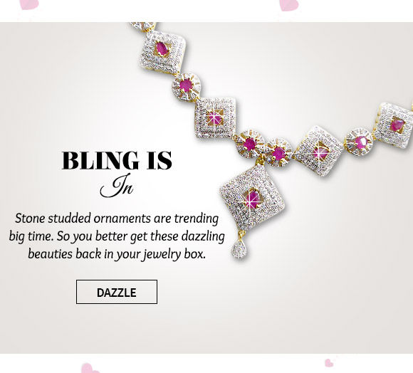 A dazzling collection of Stone Studded Jewelry. Buy Now!