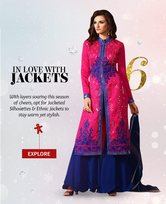 Attractive range of Jacketed Silhouettes & Ethnic Jackets. Buy Now!
