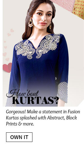 A wide range of beautiful Indo-western Kurtas. Buy Now!