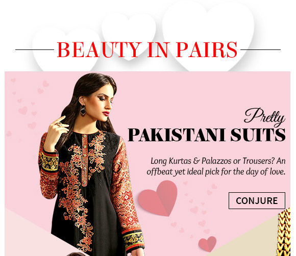 Gorgeous Pakistani Suits in Georgette, Cotton, Silk & more. Buy Now!