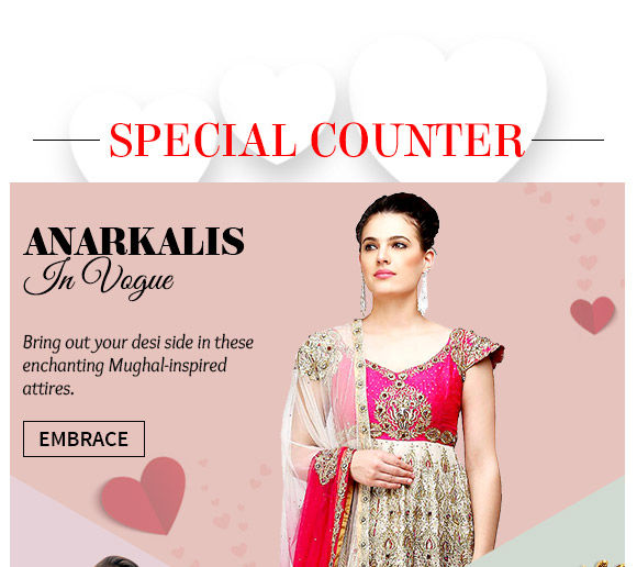 Select from our lovely collection of Anarkali Suits. Buy Now!