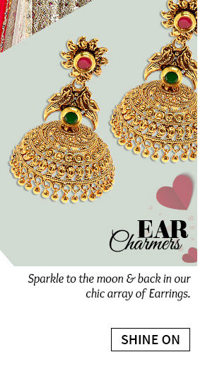 Chandbalis, Hoops, Ear Cuffs, Studs & more. Buy Now!