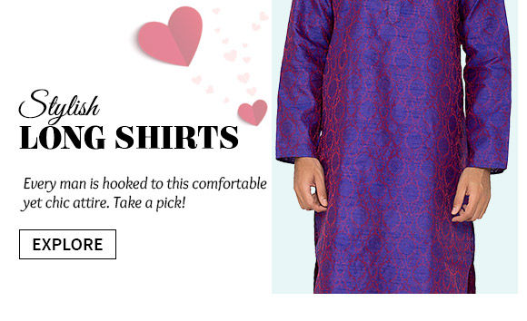 Cotton, Art Silk, Dupion, Khadi, Brocade Kurtas & more. Buy Now!