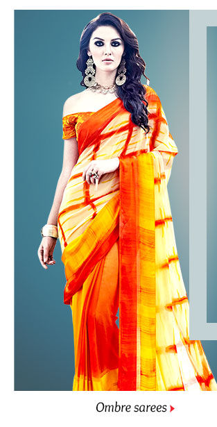 Beautiful range of Sarees in Ombre shade. Buy Now!