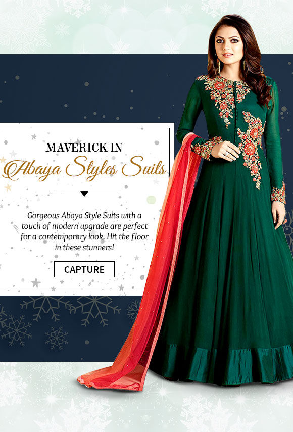 Choose from our gorgeous range of Contemporary Abaya Style Suits