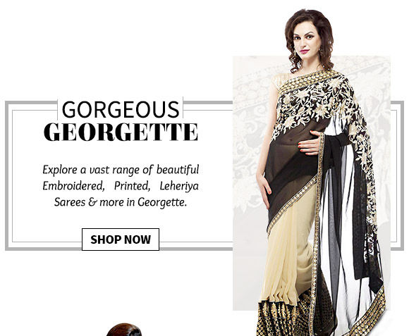 Lovely collection of Georgette Sarees. Buy Now!