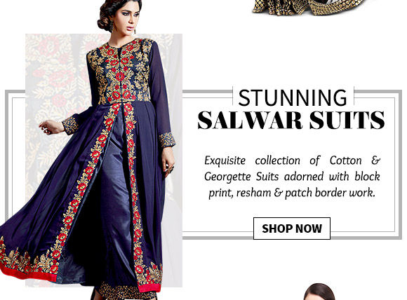 Inspiring array of Cotton & Georgette Suits. Buy Now!