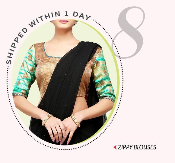 Dispatch within 24 hours- Art Silk, Brocade Blouses & more. Buy Now!